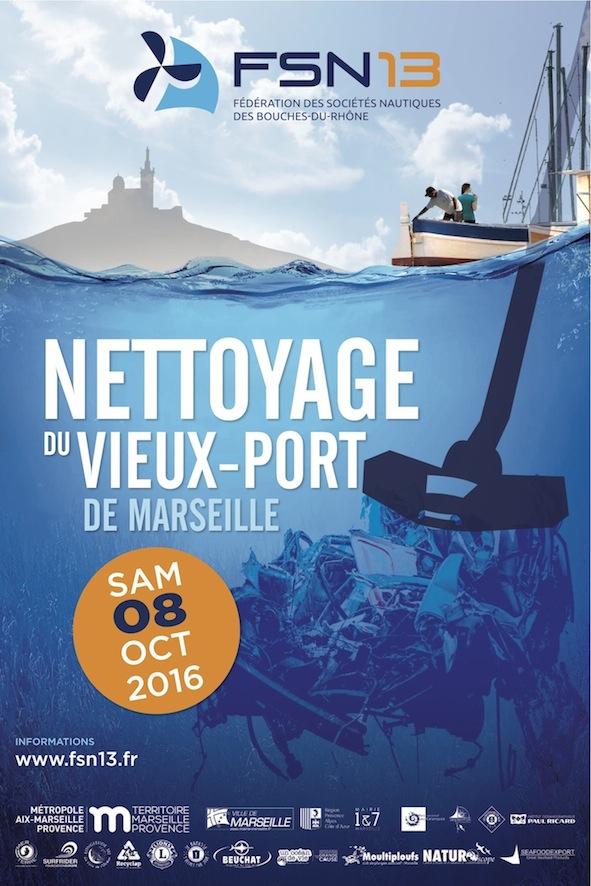 Affiche nettoyage Vieux port
