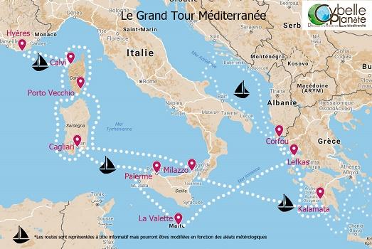 Missions carte Grand Tour Méditerranée